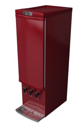 GCBIB110RRW - Bag-in-Box Kühlschrank - weinrot - 3x10 Liter