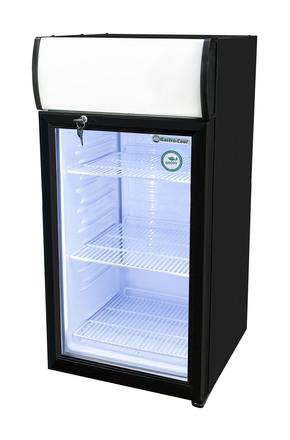 GCDC80BBW - Theken-Displaykühlschrank - schwarz/weiß