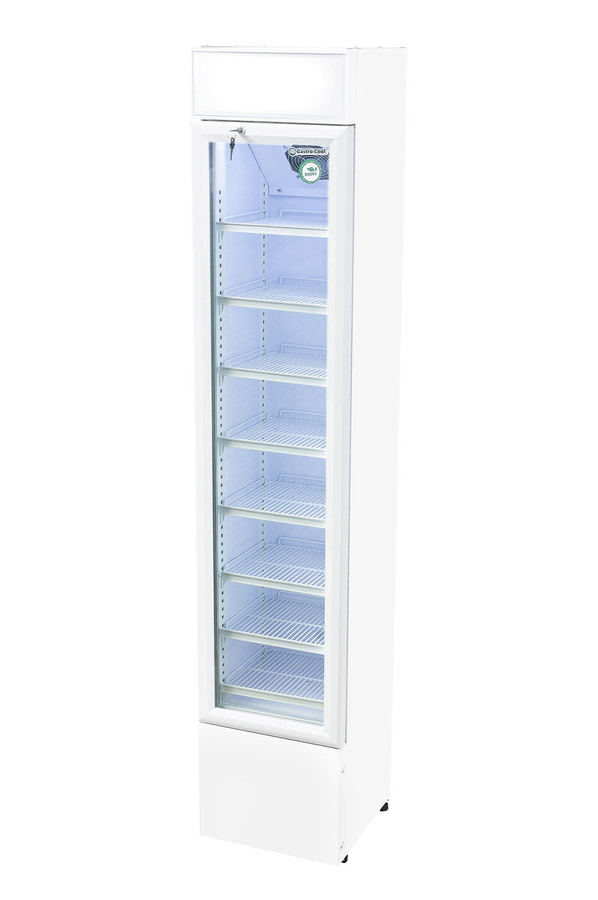 Werbe-Displaykühlschrank - GCDC110 - weiß – Gastro-Cool – Günstig kühlen