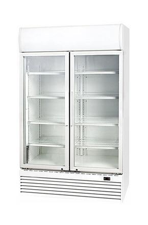 GCDC1000HD - WerbeDisplaykühlschrank - Flügeltür - weiß