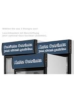 GCDC350 - Werbedisplaykühlschrank - schwarz/weiß – Zubehör bedruckte Leuchthauben