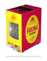 GCAP100-250_Edelstahl - Dosen Dispenser mit Kühlschrank Werbung - Paloma