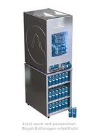 GCAP100-250_Schwarz - Dosen Dispenser Kühlschrank - mit Unterwagen