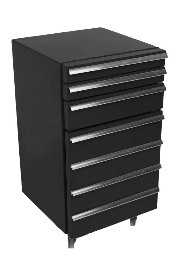 cool tool werkzeugwagen inkl k hler 3 schubladen schwarz gcct50 3b gastro cool. Black Bedroom Furniture Sets. Home Design Ideas