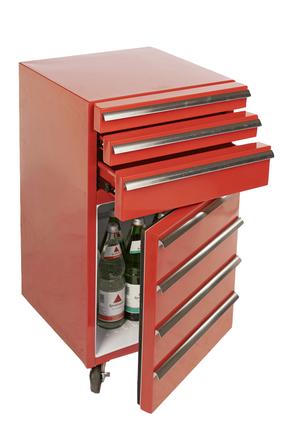 Cool Tool Werkzeugwagen Inkl Kühlschrank 3 Schubladen Rot