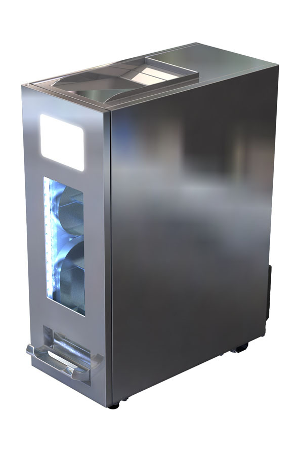 Dosen Dispenser-Kühlschrank - Edelstahl - 30 Dosen à 500 ml ...