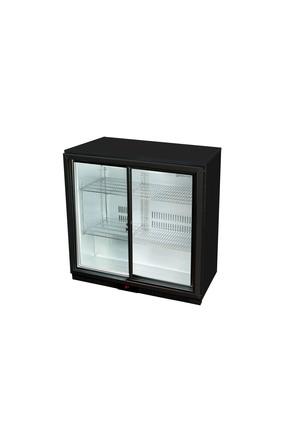 GCUC200SDB - Untertheken-Kühlschrank - Schiebetür - Schwarz