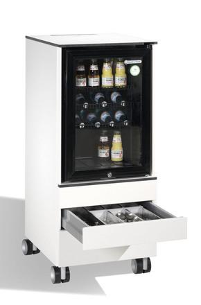 minibar k hlschrank wei 1 schublade mit 2 sammelbeh lter gcsw65 gastro cool g nstig. Black Bedroom Furniture Sets. Home Design Ideas