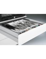 Detailbild Besteckschublade vom Servierwagen mit integriertem Kühlschrank