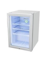 GCKW65SSW - Kühlschrank mit Glastür - silber - mit LED Innenbeleuchtung