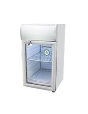 GCDC25SSW - Theken-Displaykühlschrank - silber/weiß