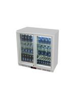 Untertheken Kühlschrank mit Schiebetür silber