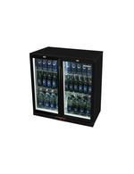 Untertheken Flaschenkühlschrank schwarz