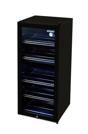 Weinkühlschwarz in schwarz