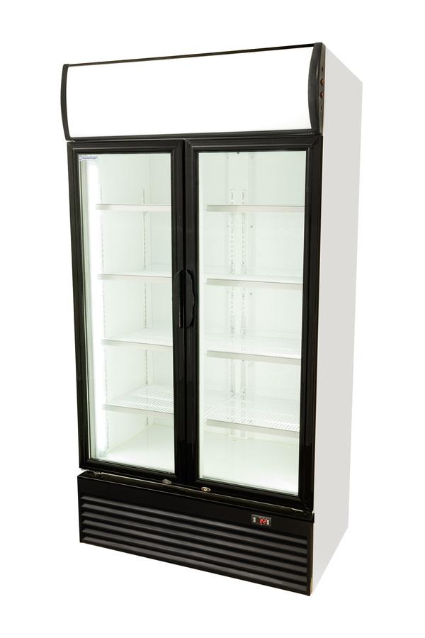 getr nkek hlschrank mit doppelt r 800 liter fl gelt r. Black Bedroom Furniture Sets. Home Design Ideas