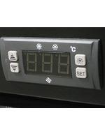 Getränkekühlschrank mit Werbedisplay - Digitale Temperaturanzeige
