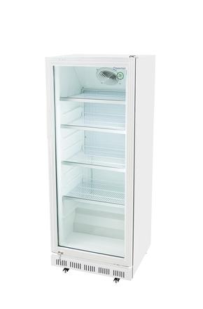 Gewerbekühlschrank mit Glastür in weiß