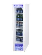 Schmaler Getränke-Kühlschrank weiß
