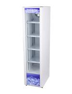 Glastürkühlschrank Weiß