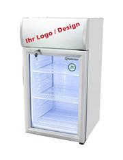 Thekenkühlschrank mit individuellen Werbedisplay