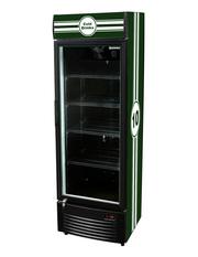 GCDC350 - Werbedisplaykühlschrank - schwarz/weiß - Rallye Streifen Design