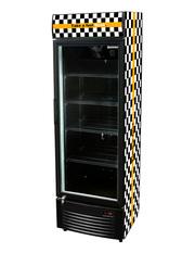 GCDC350 - Werbedisplaykühlschrank - schwarz/weiß - Union Jack Design