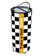 GCPT75 - Party-Cooler/ Kühl-Dose - Renn-Zielflaggen-Design