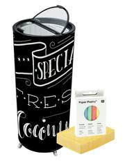 GCPT75 - Party-Cooler/ Kühl-Dose - Tafelfolie zum selber gestalten (ohne Motiv)