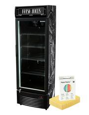 GCDC350 - Werbedisplaykühlschrank - schwarz - mit Tafelfolie zum selbst gestalten (ohne Motiv)