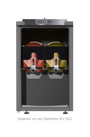 vitop bag in box dispenser k hlschrank 2x10 liter gcbib15 2 gastro cool g nstig k hlen. Black Bedroom Furniture Sets. Home Design Ideas