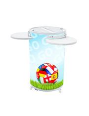 Promotionkühlschrank mit internationalem Fußballmotiv