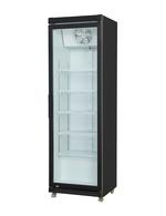 Umluft-Gewerbekühlschrank mit Glastür in schwarz