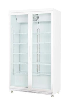 Weißer Umluft-Flaschenkühlschrank / Umluft-Getränkekühlschrank