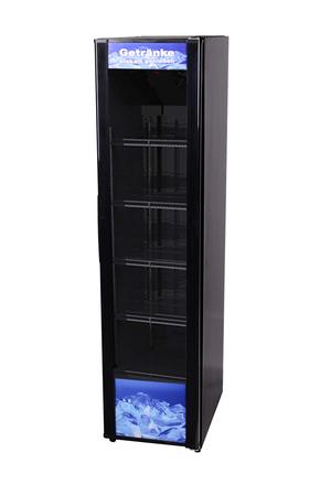 Getränkekühlschrank extra schmal mit Glastür