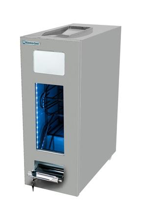 GCAP50-250 - Dosen Dispenser-Kühlschrank - Silber