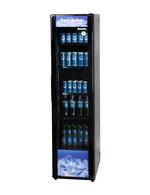 Getränkekühlschrank schmal schwarz