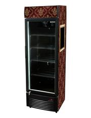 GCDC350 - Werbedisplaykühlschrank - schwarz - Schnörkel-Design