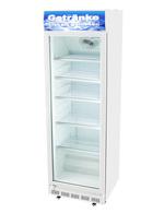 Weißer Getränkekühlschrank mit Glastür