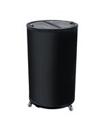 Kühlschrank schwarz & rund