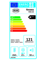 A+++ Energy Label des Retro-Kühlschranks Havanna von Vintage Industries