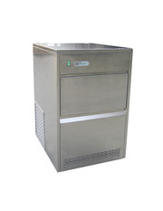 Eiswürfelmaschine Edelstahl 6 kg Vorratsbehälter