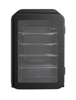Retro Kühlschrank mit Glastür in Schwarz