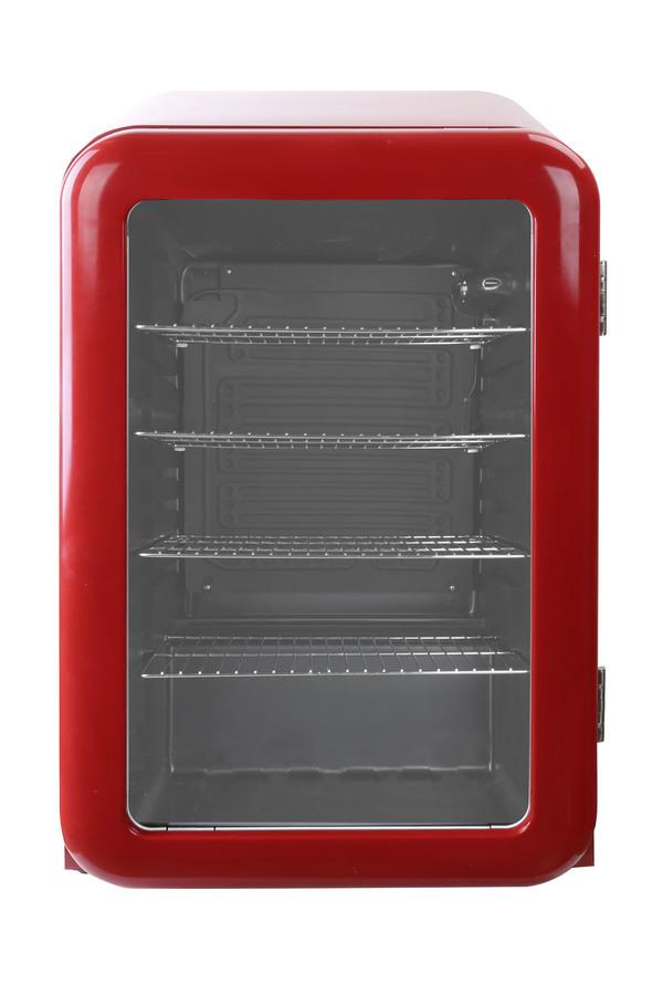 Roter Retro-Kühlschrank mit Glastür - 115l - RC155 – Gastro-Cool ...