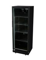 Schwarzer Glastürkühlschrank von Gastro-Cool