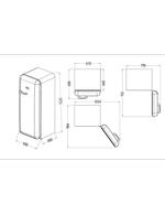 Vintage Industries Retro-Kühlschrank RC330 Abmessung