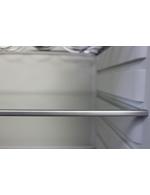 Detailbild Alukante vom Glaseinlegeboden des Retro-Kühlschranks