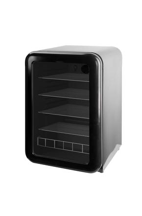 Schwarzer Glastür-Retro-Kühlschrank  - 115l  - RC155