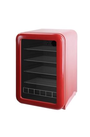 roter retro k hlschrank mit glast r 115l rc155 gastro cool g nstig k hlen. Black Bedroom Furniture Sets. Home Design Ideas