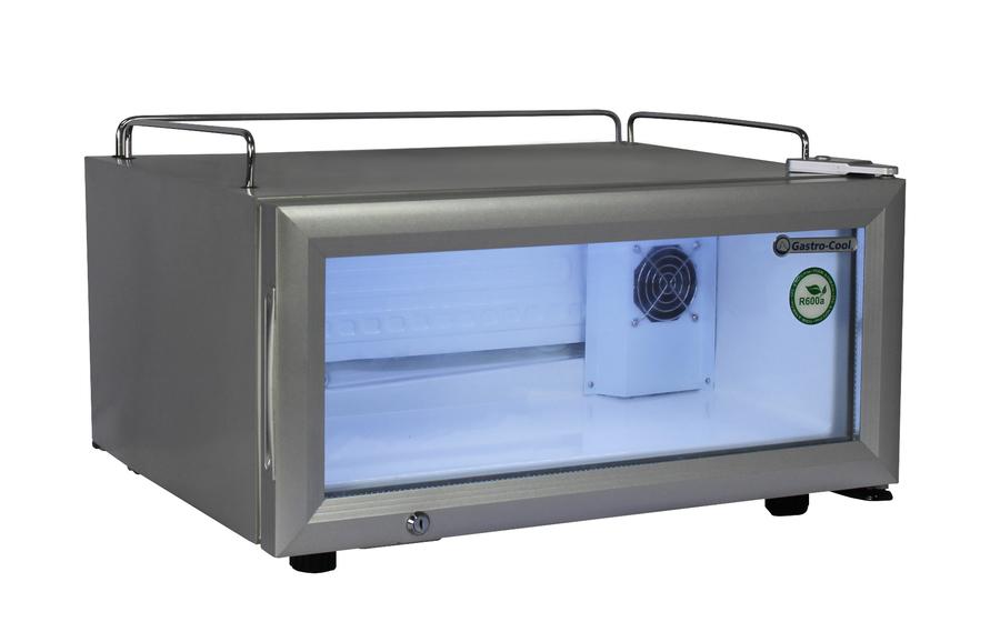 Minibar Kühlschrank Glastür : 30 cm flacher impuls kühlschrank u2013 gcgd15 silber u2013 gastro cool