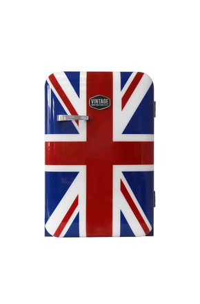 Retro-Kühlschrank Kingston im Union Jack Design